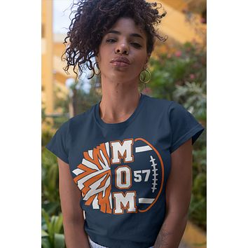 Women's Personalized Cheer Mom T Shirt Custom Football Shirts Cheer T Shirt Personalized Team Football Shirts