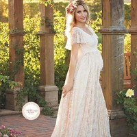Gorgeous lace maternity dress