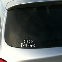 "Harry Potter inspired ""Pott Head"" vinyl decal - Car decal - Harry Potter decal - Deathly Hallows decal"