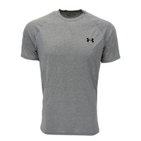 Men's Under Armour Compression HeatGear Shirt, Black-Gray (Size S-2XL)