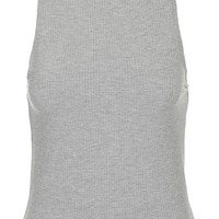 Slim Ribbed Tank Top - Grey