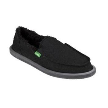 *Donna Hemp Chill Fur Sanuk Black