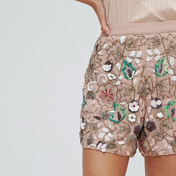River Island Embellished Shorts at asos.com