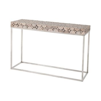 Terrene Console Table Natural Teak