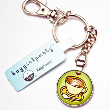 Coffee Keychain - Coffee Lover Keychain