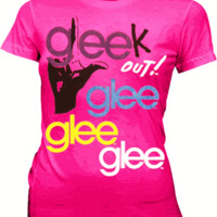 Glee Gleek Out Glitter Azalea Pink Juniors T-shirt - Glee  - | TV Store Online