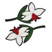 2 Flowers Embroidered Sewing Patch Applique, Flower Patch for Sewing  Flower Appliques 2 PCS