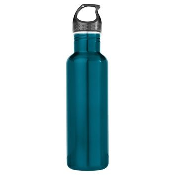 Electric Blue Stainless Steel Water Bottle Add Own 24oz Water Bottle