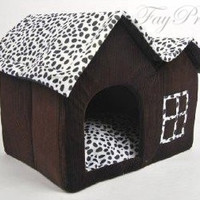 2015 New Pet Stop Super Sofe Pet House Luxury High-end Pet Dog Cat Room Comfortable Bed (Size 55cm X 40cm X 42cm) (Color: Brown) = 1929830340