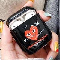 GUCCI Comme Des Garcons Play AirPods Bluetooth Wireless Earphone Case Protector (No Headphones)