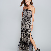 Boho Print Halter Maxi Dress | Wet Seal