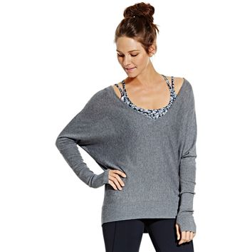 CALIA by Carrie Underwood Women's Effortless Dolman Heathered V-Neck Sweater | CALIA Studio
