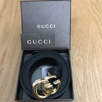 Gucci Marmont Belt. Gold Buckle- Skinny.