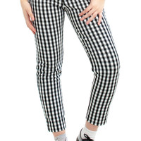 Vintage 90's Black & White Check Trousers - M