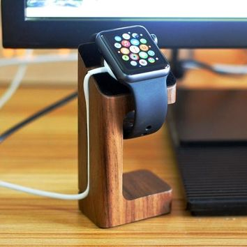 Wood Apple Watch Charger Stand