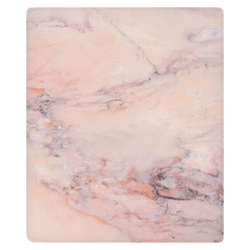 Blush Marble Fleece Throw