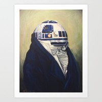 Duke R2-D2 Art Print by Hillary White