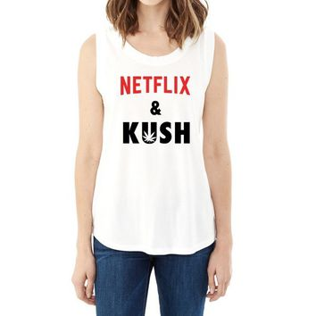 Netflix and Kush Muscle T-Shirt