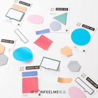 60 Pages/Pack Geometric figure Candy Color Index Sticky Notes Planner Accessories Tool Sticky Sticker Message Notes Scratch pad