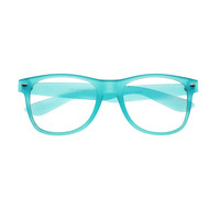 Colorful Rubberized Clear Lens Matte Wayfarer Glasses Frames W75
