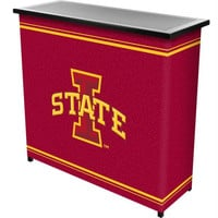 Iowa State University 2 Shelf Portable Bar w- Case