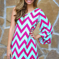 You Are My Chevron Dress: Multi | Hope's