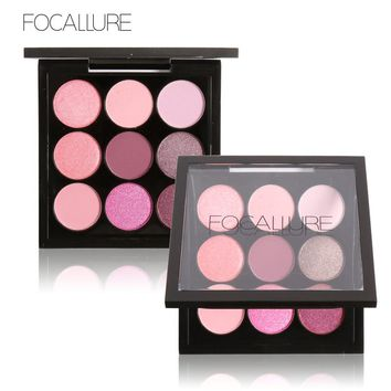 FOCALLURE 9 Colors Makeup Eyeshadow Palette Makeup Eyeshadow Palette Matte&Shimmer Smoky Eye Shadow Palette