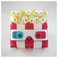 Decorative Pillow, Mini Pillow, Kawaii Print, Toy Pillow - 3D Yummy Popcorn