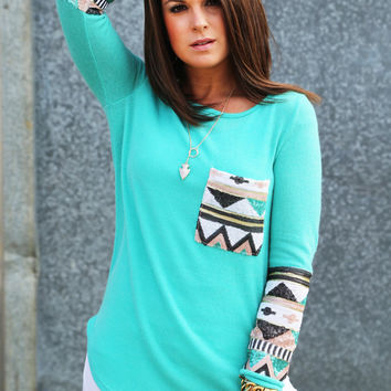 Sequin Glam Knit {Mint}