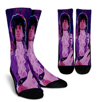 Prince - Purple Rain by Howie Green Crew Socks