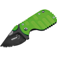 "Boker Plus Subcom Zombie Folding Pocket Knife - Folding Pocket Knife - 1.89"" Blade - Serrated Edge - Steel Blade"