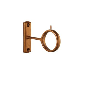 "Steel Collection Eyelet Bracket 3/4""-1 3/4"" (1 Inch Diameter - 3 1/2 Inch Return)"