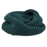 Olive Green Knit Funnel Scarf Day-First™