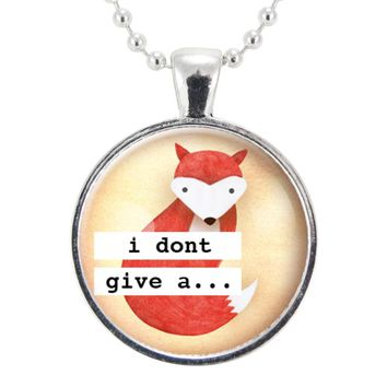 I Don't Give A Fox Necklace