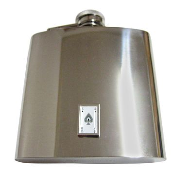 Ace of Spades 6 Oz. Stainless Steel Flask