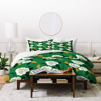 Morgan Kendall green spring Duvet Cover