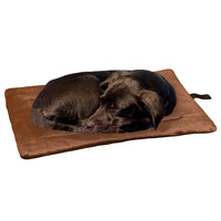 Evelots Self Heating Pet Bed Pad, Cats & Dogs, Soft, Brown, Non Electric, Medium