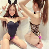Hot COSPLAY close-fitting Bunny Girl jumpsuits Sexy lingerie women costumes Sex toy Sexy underwear Role play