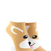 Corgi Graphic Ankle Socks