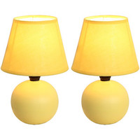 Walmart: Simple Designs Mini Ceramic Globe Table Lamp 2-Pack Set