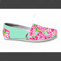 Women's Custom Lilly Pulitzer Toms by alexandraTOMS on Etsy