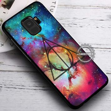 Galaxy Nebula Deathly Hallows Harry Potter iPhone X 8 7 Plus 6s Cases Samsung Galaxy S9 S8 Plus S7 edge NOTE 8 Covers #SamsungS9 #iphoneX
