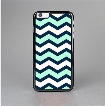 The Teal & Blue Wide Chevron Pattern Skin-Sert for the Apple iPhone 6 Skin-Sert Case