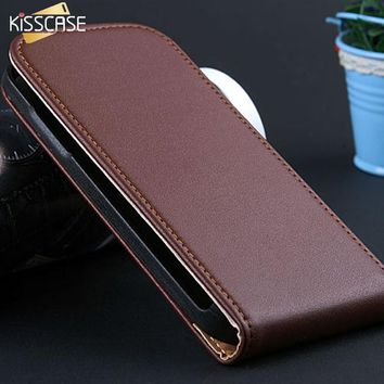KISSCASE Vertical Flip Leather Case For Samsung Galaxy S4 Mini Case Magnetic Wallet Pouch Cover For Samsung S4 Mini Coque Capa