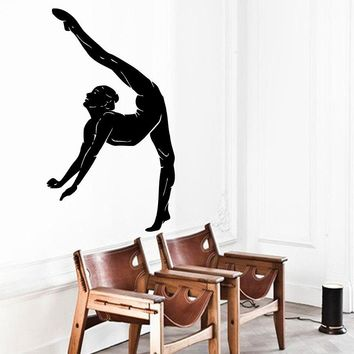 Wall Decals Girl Gymnast Sport Gymnastics People Home Vinyl Decal Sticker Kids Nursery Baby Room Decor Yoga Studio Mural A147
