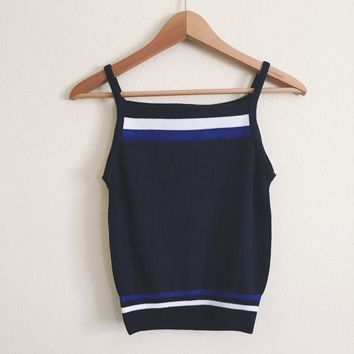 Bea Blue Striped Knit Halter