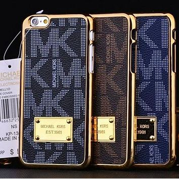 Michael Kors MK Fashion Print Plated iPhone Phone Cover Case For iphone 6 6s 6plus 6s-plus 7 7plus