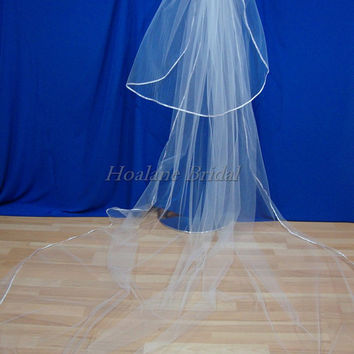 Veil, Cathedral veil, ribbon edge veils, bridal veils