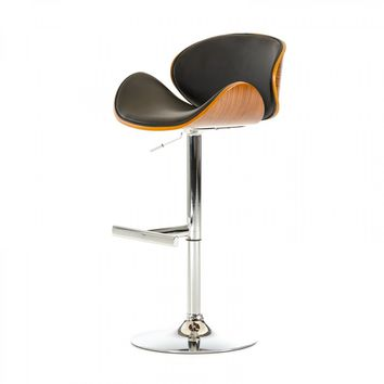 Modern Black Walnut Bar Stool