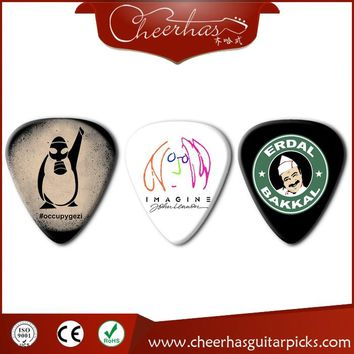 100pcs Logo Printed Modern Design Celluloid Custom Guitar Picks
